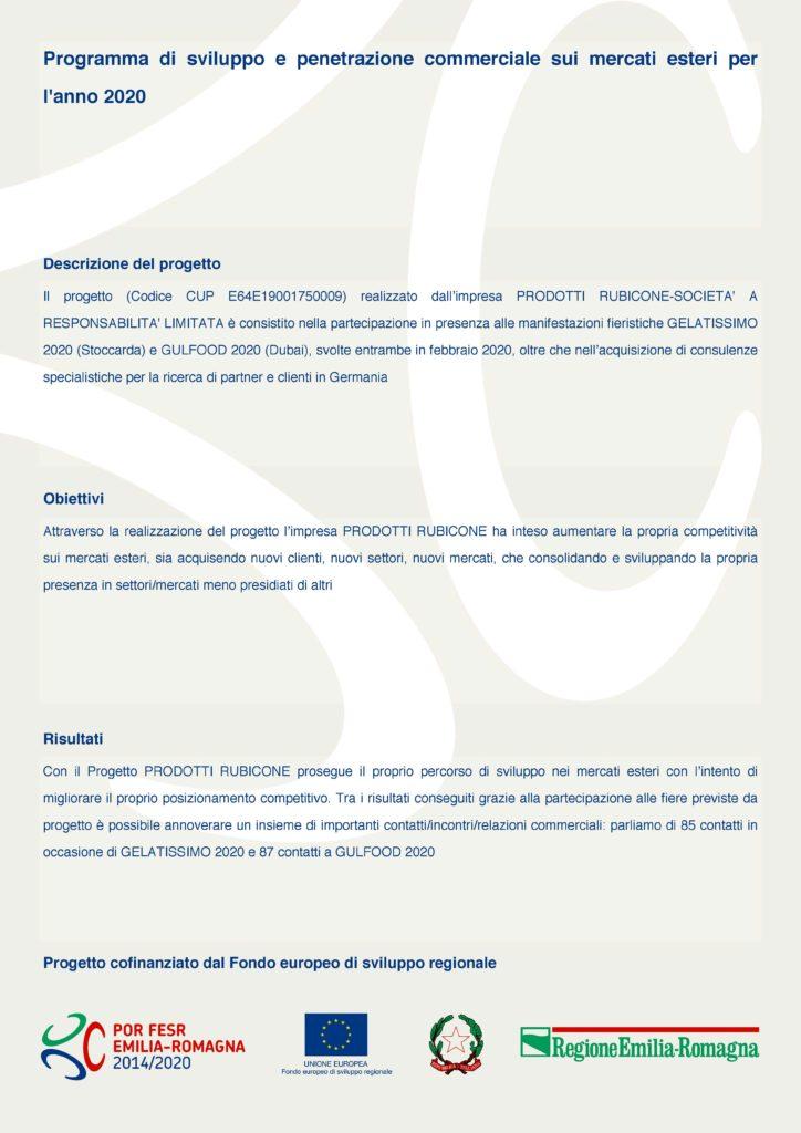 bando fiere 2020 poster - Trasparenza
