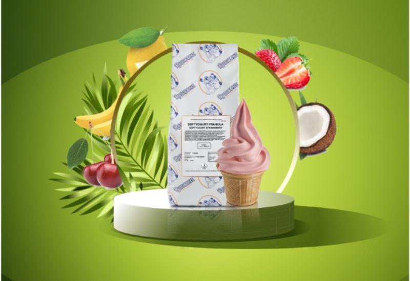 podio verde palme frozen frutta - Frozen Yogurt